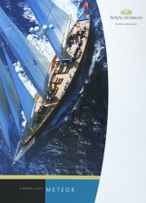 METEOR, another of the individual yacht brochures for Royal Huisman.