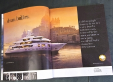 Advertising spread for Sunrise Yachts.