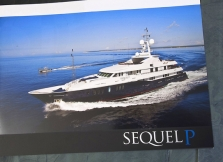 Charter brochure for the owner of SEQUEL P. It was pure coincidence that this yacht was built by Owen client Proteksan Turquoise of Istanbul.